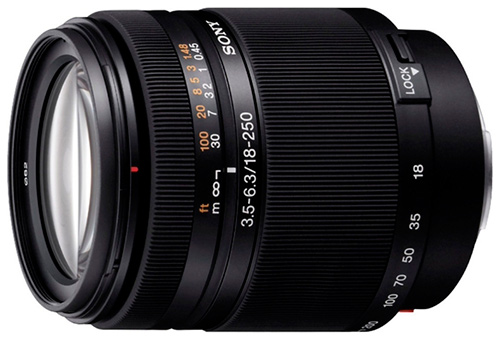 объективов Sony DT 18-250mm f/3.5-6.3 SAL-18250 краткий обзор и характеристики